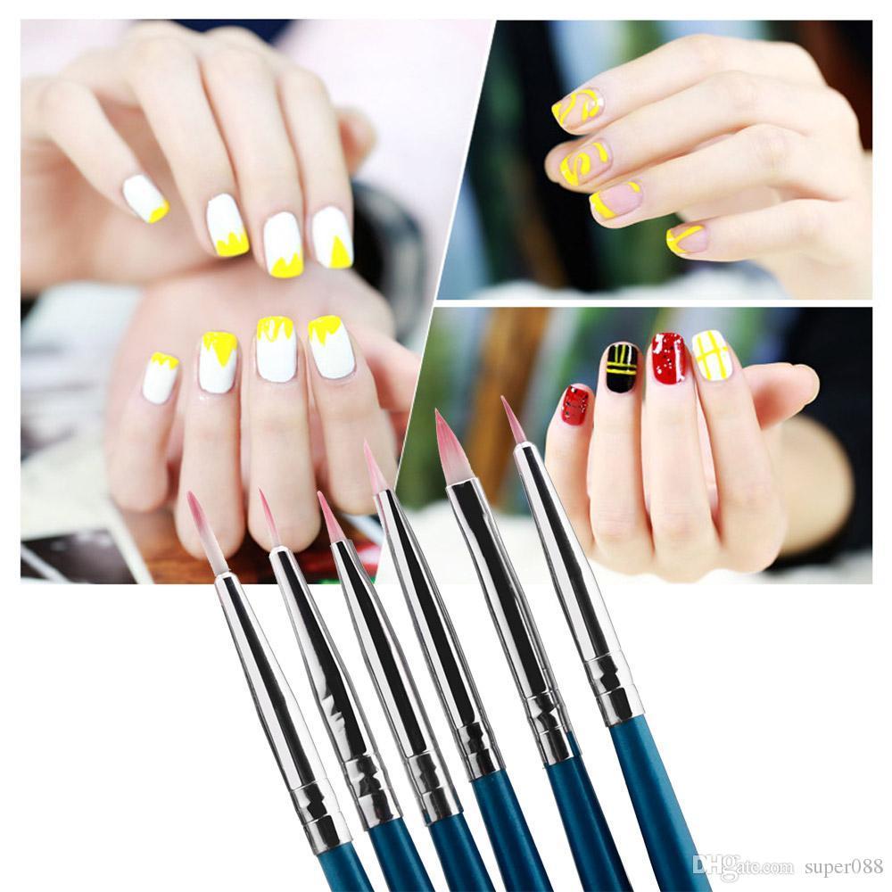 Professional Polish Brush Set Nail Art Design Painting Tool Pen Nail