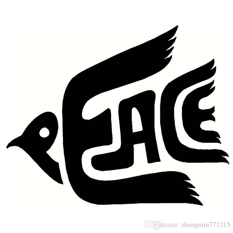 2018 wholesale vinyl decals car stickers glass stickers scratches stickers wall die cut bumper accessories jdm classic peace dove from zhangmin771215