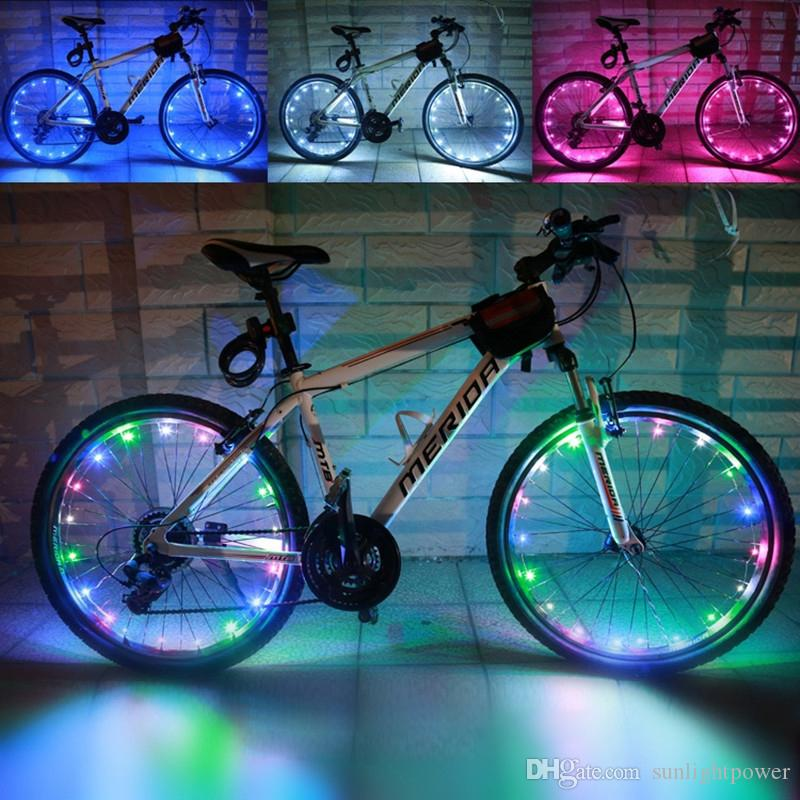 Bike Bicycle Cycling Spoke Wire Tire Tyre Wheel LED Bright Light MTB Bike Bicycle Spoke Reflector Stripe Lights