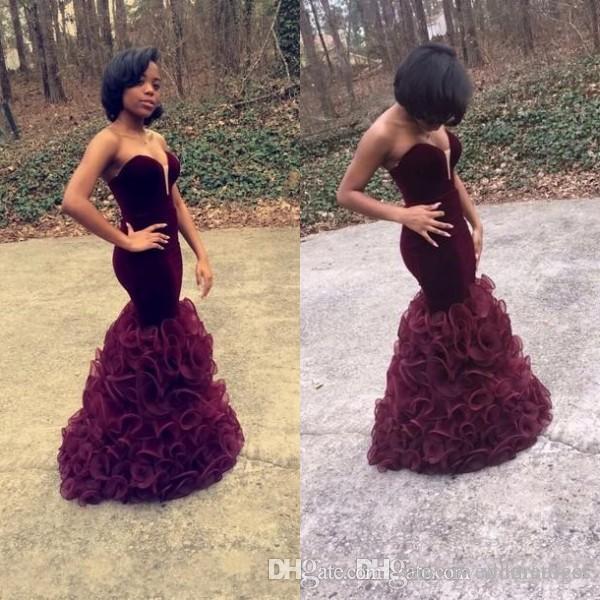 Großhandel Celebrity Black Girl Prom Kleider Meerjungfrau Stil ...