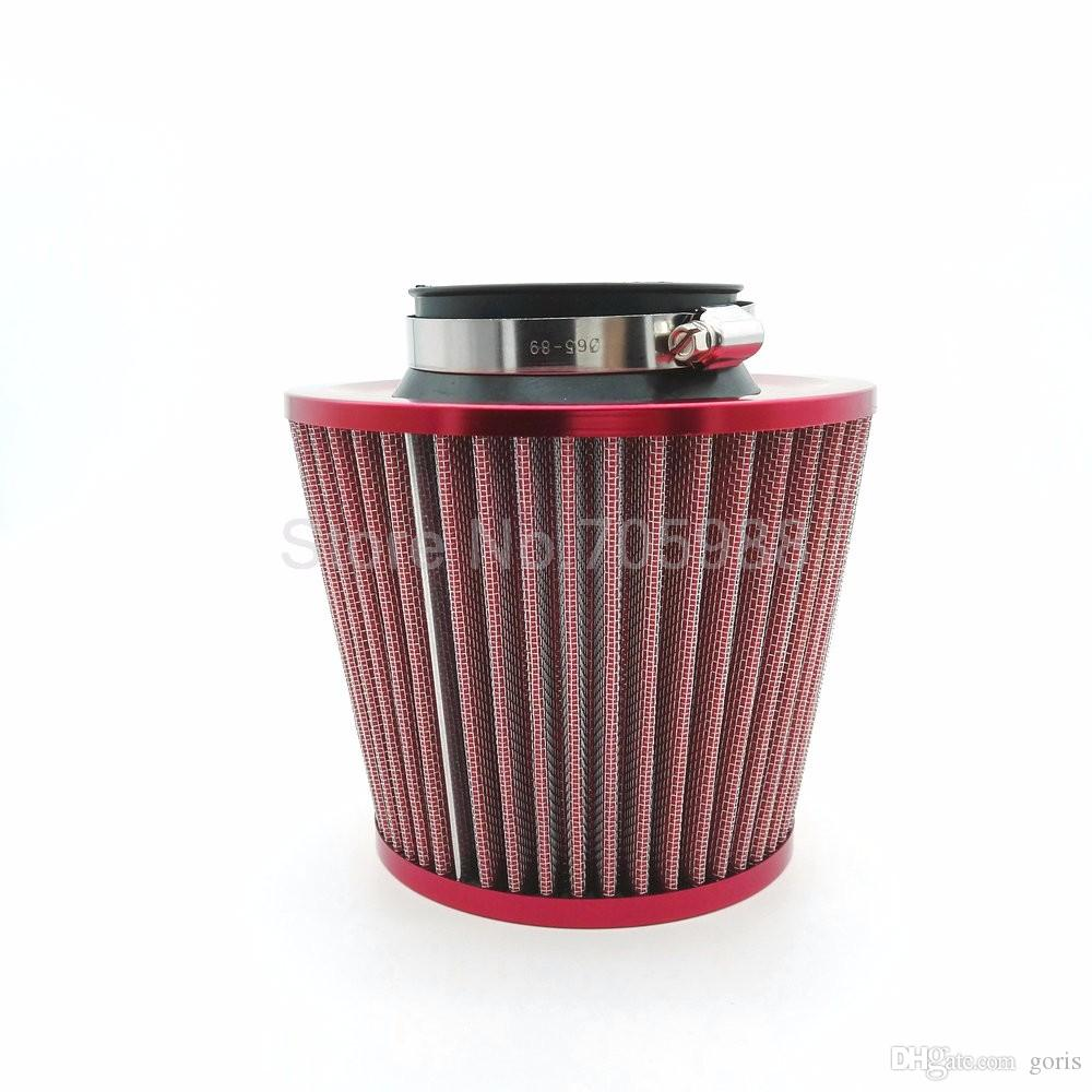 """3"""" 76MM Red Car Universal Air Cleaner High Flow Car Universal Air Cleaner High Flow Cone Cold Air Intake Filter Cleaner"""