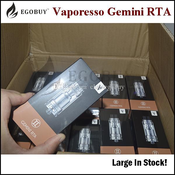 Autêntico Vaporesso gemini RTA Tanque 3.5ml Gemini rta atomizador com 2 Post Estilo Velocity Deck clapton wire ni200 bobina premade 100% Original