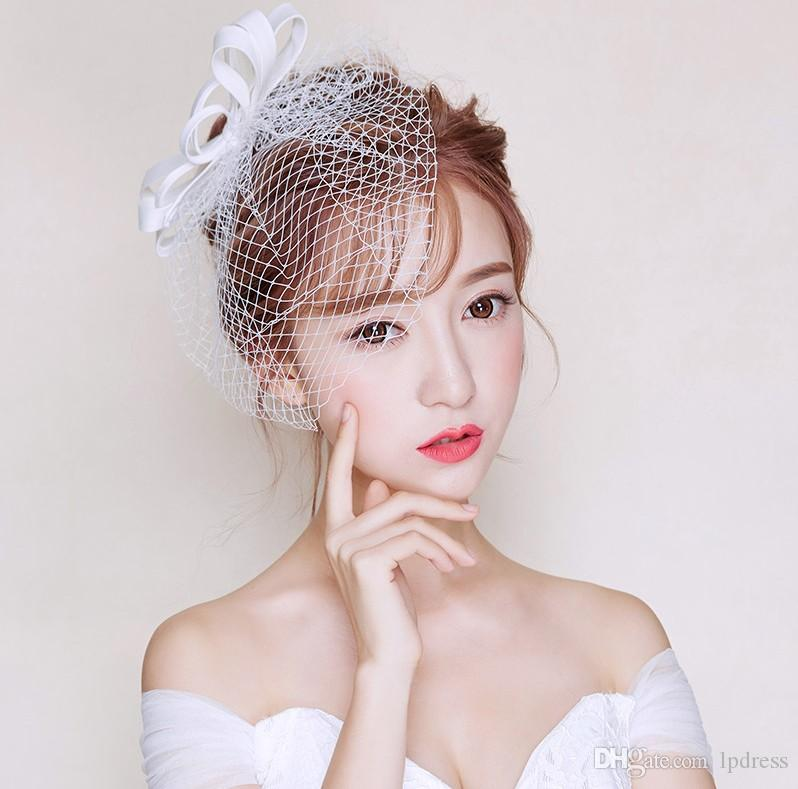 Veli da sposa bianchi da sposa accessori reticolato con pettine veli da sposa fantasia di alta qualità nuovo arrivo spedizione gratuita