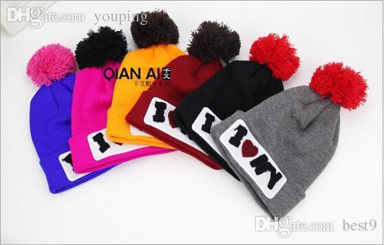 Wholesale Korea New Harajuku Style Embroidery Beanies Cartoon Cap Knit Hats  Wool Hat Woman Fall And Winter Caps Hats For Women Girl Bone Slouch Beanie  Ski ...