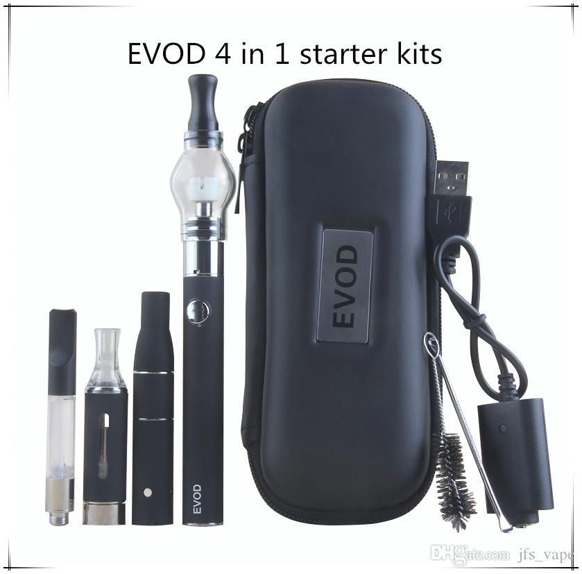 4 in 1 Vaporizer Starter Vape Kit for EVOD Battery Vapor MT3 Oil Ago Dry Herb Glass Globe Wax Dome Vape Pen