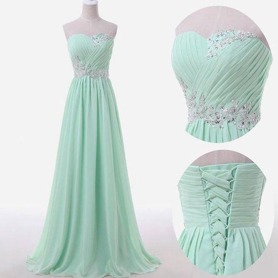 Cheap Wedding Dresses Raleigh Nc: 2016 Mint Green Prom Dresses,Sweetheart Collar A Line