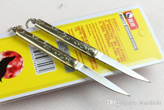 Chinese Wolf Small Tactical Folding Knife 440C 56HRC Outdoor Camping Hiking Survival Pocket Knife Fruit Utility EDC Tools Retail Package