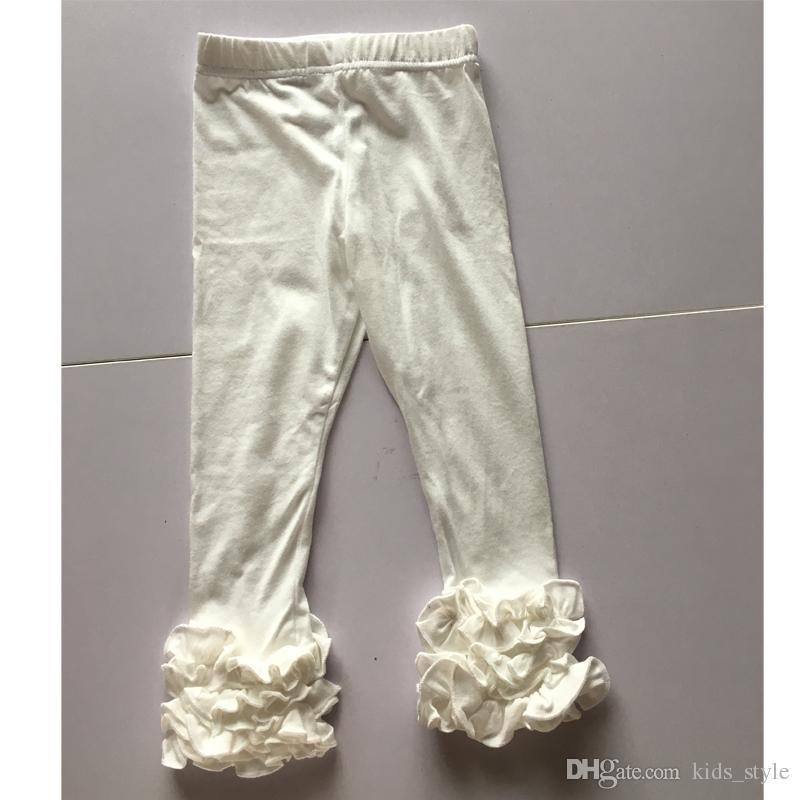 e21ea8dee White Girls Triple Icing leggings Ruffle Pants Multi-Fold Ruffle Leggings  Wholesale Baby Icing Baby Girls Clothes
