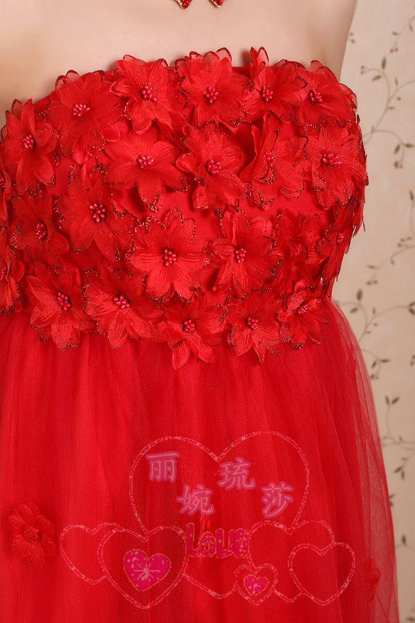 celebrity club dress 2018 petal short design maternity classic red girl's embroidered lace saab bridesmaid dresses