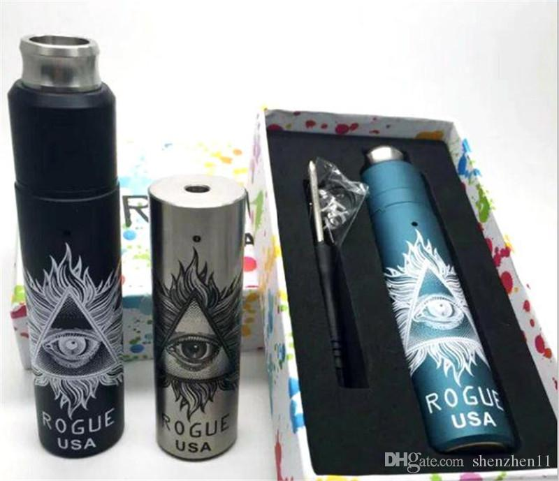 Rogue EUA Kit Com Rogue completo Mod Mecânica Rebuildable Dripping RDA Atomizador 18650 Bateria Vapor mods e cigarros caneta Vape TZ722