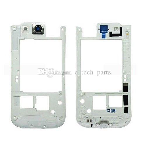 Back Middle Housing Frame For Samsung Galaxy S3 i9300 i9305 vs i747 i535 L710 middle frame Bezel Plate replacement white color