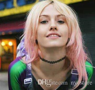 100 unids Nuevo Vintage Stretch Tattoo Gargantilla Collar Gothic Punk Grunge Henna Elástico Multi Color Gargantilla Collar