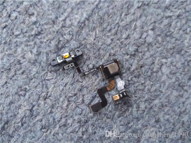 Original Power / Lock Button Flex Cable with Earpiece & Bracket Replacement Parts For iPhone 4 4S 4GS