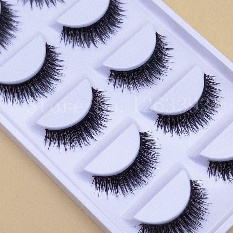 Beauty Essentials Beauty & Health Yokpn 5 Pairs False Eyelashes Acrylic Crystal Art Natural Length Long Fake Eye Lashes Thick False Eyelashes Beauty Makeup Tips