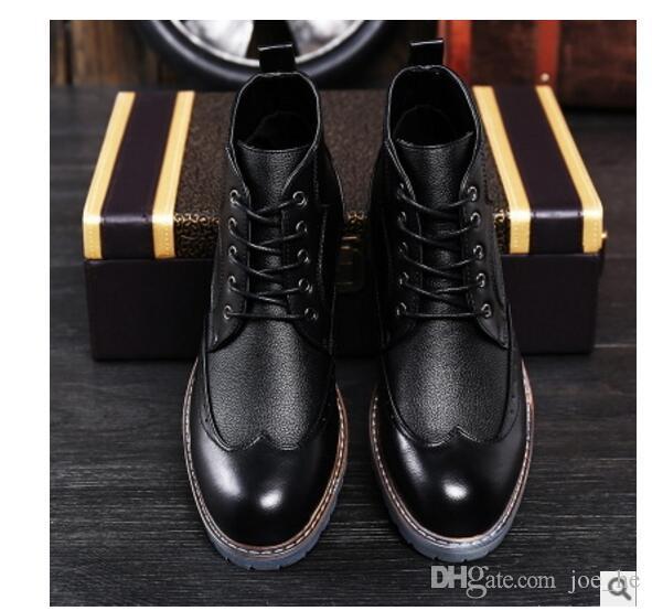 Tobillo Compre Calidad Hombres Para Cuero De Marca Lujo Hombre Cuero De Genuino Hombres Alta De Botas De De Negocios Botas Vestir Genuino Zapatos Para De De OOaTxrHFwn