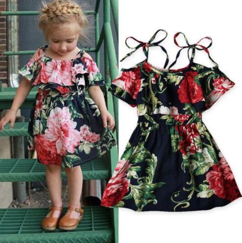 2018 2018 Fashion Baby Clothes Girls Dress Summer Cotton Kids ...