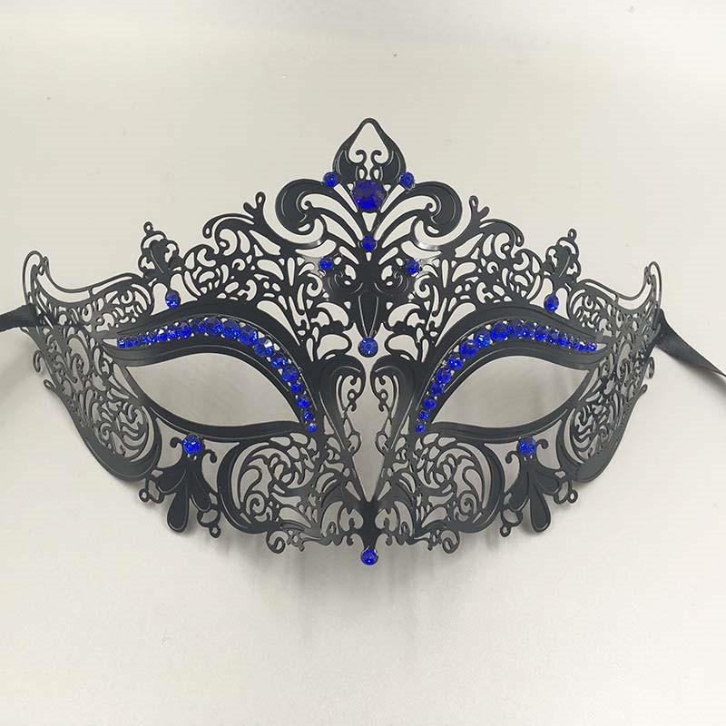 Luxury His & Hers Couple Masquerade Mask Adult Metal Filigree Venetian Ball Prom Mardi Gras Costume Diamond Party Mask