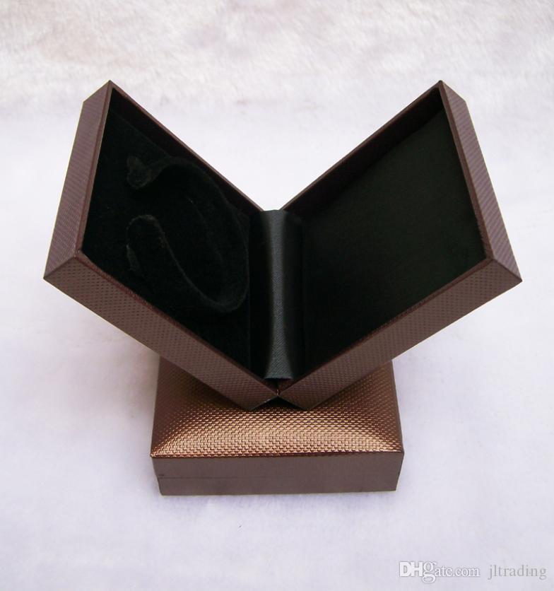 Ücretsiz Kargo Takı Ekran BoX Kahverengi Bilezik Kutuları Bileklik Tutucu Tabut Plastik Kalite Takı Hediye Ambalaj Kutusu Organizatör Vaka