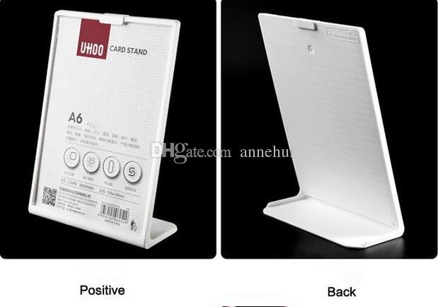 5 adet Ücretsiz kargo Masa kart ekran standı L şekli posteri reklam vitrin masası menü fiyat etiketi etiket tutucu çerçeve A4 / A5 / A6