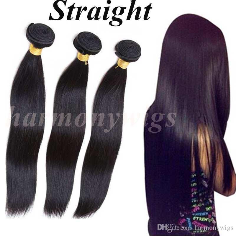 Feixes de Cabelo brasileiro Virgem Do Cabelo Humano Tece Bundles 8-34 polegada Não Transformados Extensões de cabelo tingido Indiano Peruano Malaio