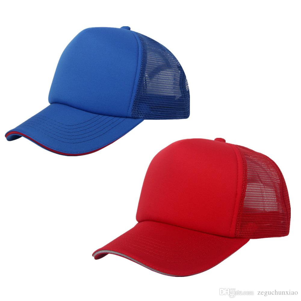 2 Pack Trucker Mesh Hat Baseball Plain Caps Cheap ...