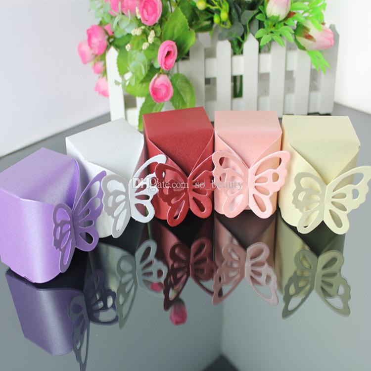 나비 사탕 상자 웨딩 Faovrs 크리스마스 파티 선물 상자 무료 배송 선택 5 색 선택