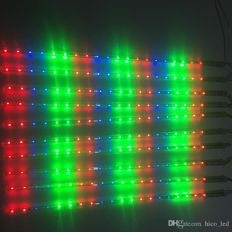 Weihnachtsbeleuchtung Led Baum.Großhandel Weihnachtsbeleuchtung Led Meteor Tube Bunte Led Baum Licht Smd 2835 50cm Wasserdicht Meteorschauer Regenröhren Für Urlaub Dekoration Von