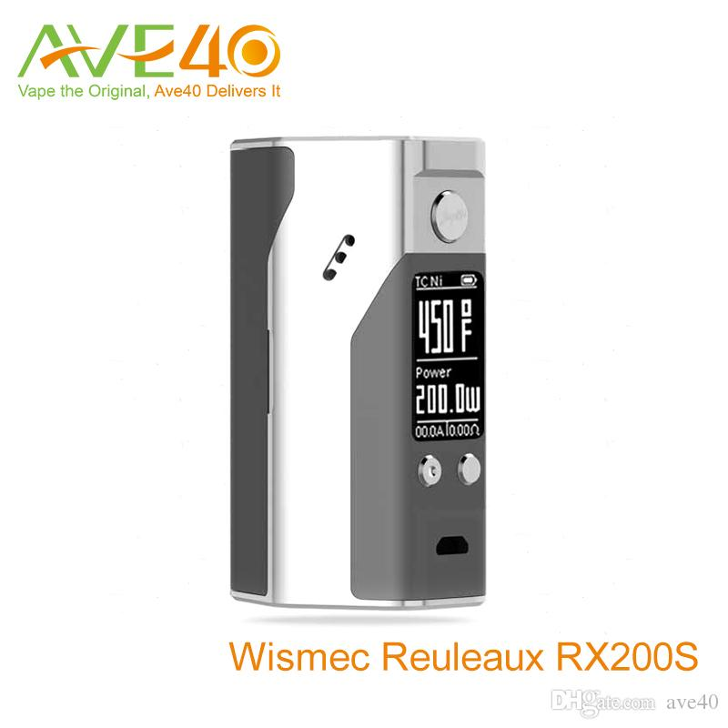 Wismec Reuleaux RX200s New Colors UPdate RX200 Box Mod 200w TC 510 spring loaded thread VW Mode 100% Original