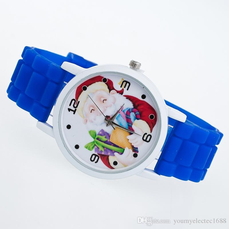 New Children Lovely Silicone Strap Watch Candy Color Christmas Lady Watch For Gift DHL Free Shipping