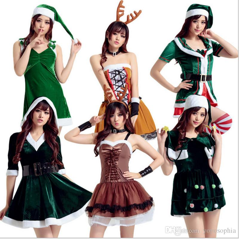 2016 Winter Women Velvet Christmas Dress Off Shoulder Sleeveless ...