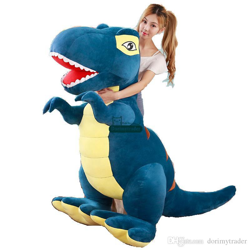 2019 Dorimytrader Large Simulated Animal Tyrannosaurus Rex Plush Toy