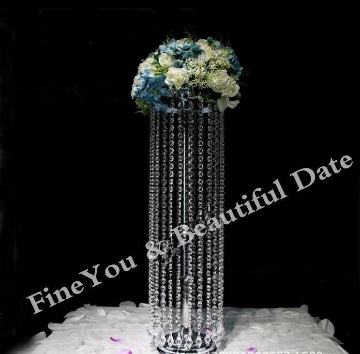 Neue ankunft 70 cm hoch 20 cm durchmesser acryl kristall pfosten hochzeit straße führen Hochzeit gehweg standständer Herzstück für Party Weihnachten dekor