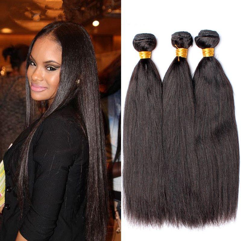Stock Italian Yaki Human Hair Bundlesunprocessed Indian Light Yaki