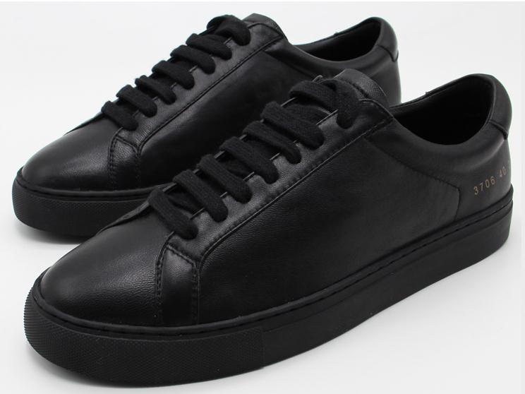 71232a6182f3d 100% Sheep Leather All Black COMMON PROJECTS New Arrived Casual Shoes  Unisex Men And Women Top Quality Handmade Shoes Pumps Shoes Munro Shoes  From ...
