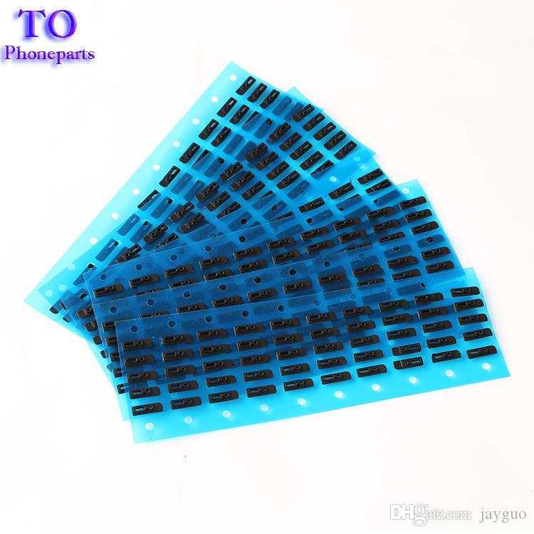 For iPhone 6 6S 7 Plus Earpiece Ear Speaker Self Adhesive Anti Dust Screen Grill Mesh with Rubber Gasket Replacement