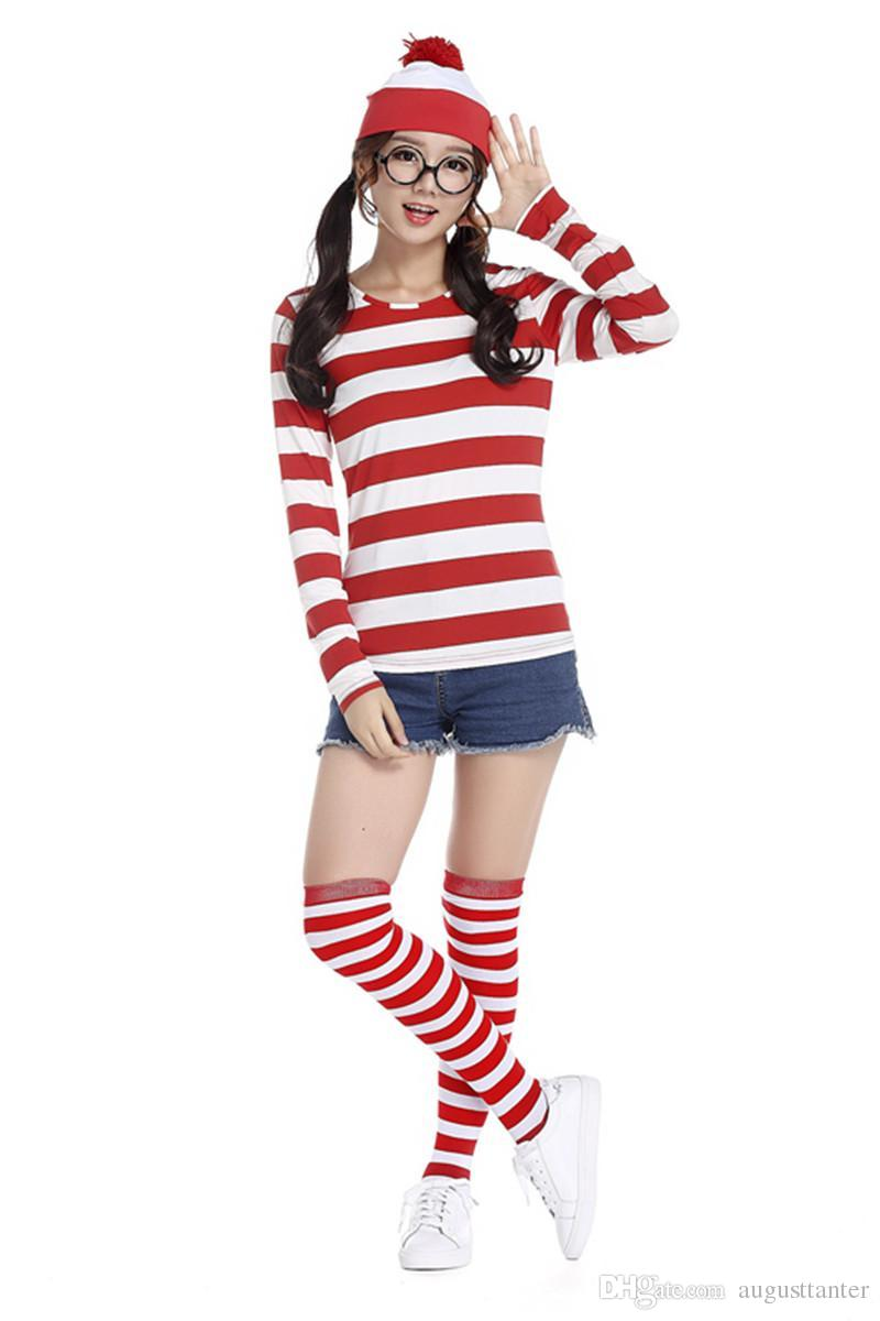 New Hot Wheres Wally Waldo Tv Cartoon Stag Night Outfit Adult Mens