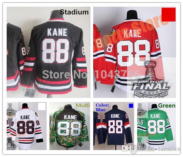 5478aa40b 2019 2016 Stadium Series Patrick Kane Jersey 2014 Chicago Ice Hockey  Jerseys 88 Patrick Kane Red Jersey White Green Blue From Fanatics