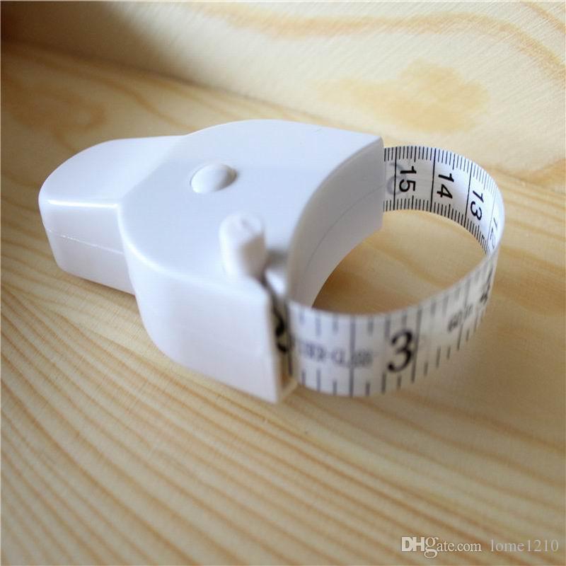 DHL Frete grátis Chegam Novas Branco Precisa Dieta De Fitness Caliper Medição Corpo Cintura Fita Medidor