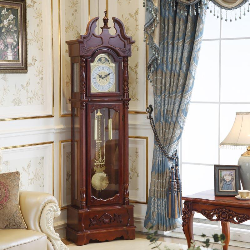 2018 Classic Grandfather Clock Pendulum Wood Living Room ...