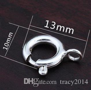 925 bottoni in argento Clip 5MM 6MM 7MM Ciondolo semi di melone Bottone collana fibbia a balze con fibbia in argento massiccio 925 gioielli in argento
