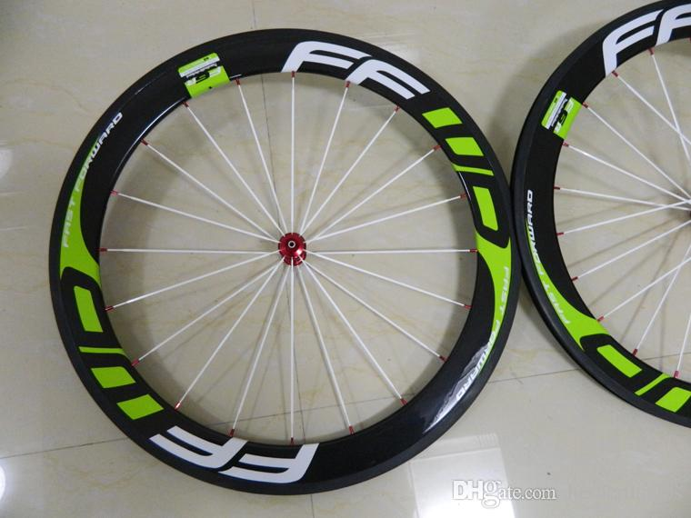 Green Wheels Ffwd F6R 60mm Full Carbon Clincher Bicycle Wheels With R36 Ceramic Bearings Hubs Best