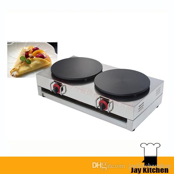 2018 Gas Commercial Crepe Maker Double Head Machine Pancake Mini Stainless Steel Pan From Jaykitchen
