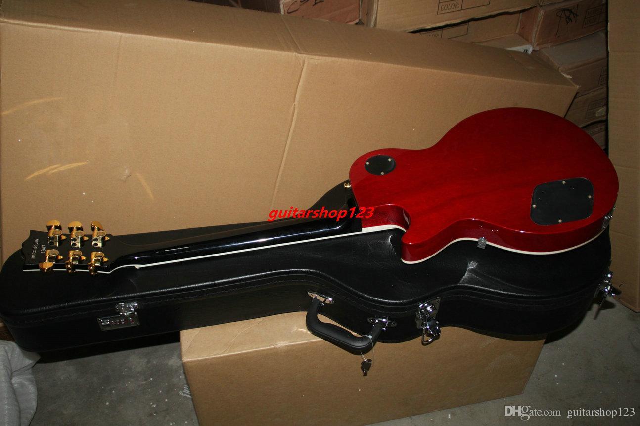 Ücretsiz Kargo SıCAK Özel mağazalar Elektro Gitar Doğal ahşap Elektro gitar çin'den Ücretsiz kargo
