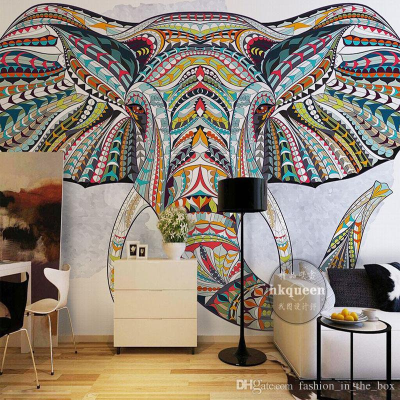 Custom 3D Wallpaper For Walls Animal Totem Photo Bedroom Living Room Decor TV Background Wall Covering Mural Elephant