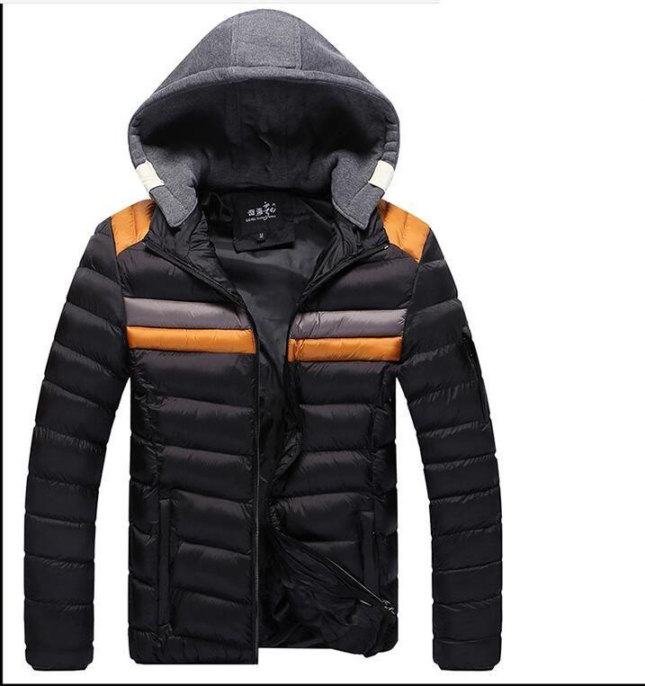 British Stylehot SALE spedizione gratuita brand new Inverno Mens Ragazzi Cappotto con cappuccio Zip cotone caldo giacca Outwear TAGLIA M-3XL