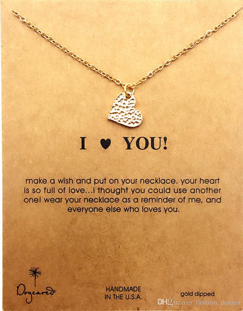 Neue Dooteared Halsketten mit Karte Gold Elefant Herz Kleeklee Hufeisen Dreieck Charme Anhänger Halskette Für Frauen Modeschmuck Geschenk