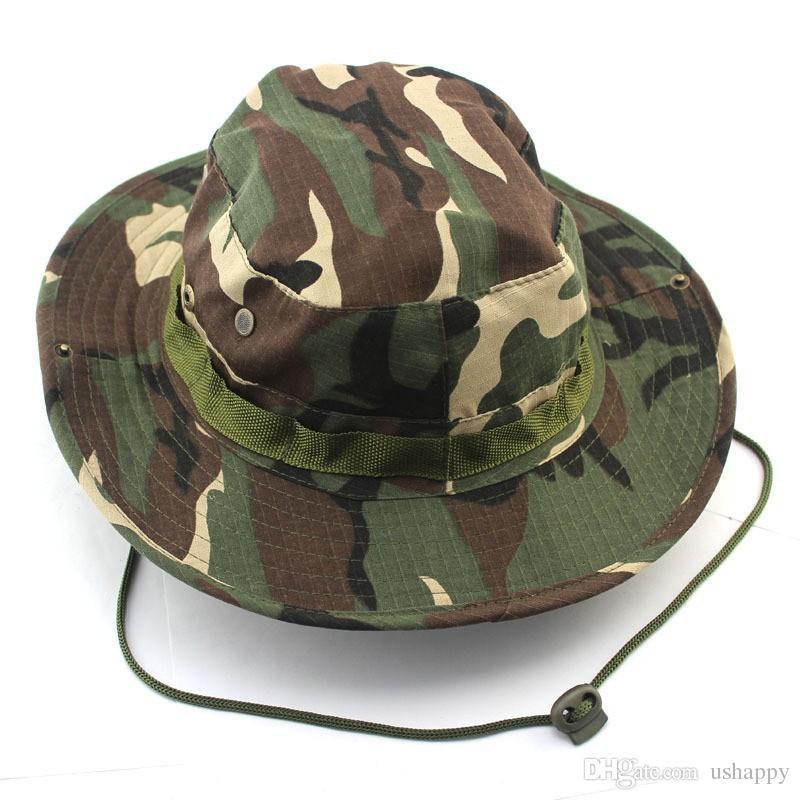 Açık Dağcılık Balıkçı Orman Şapka Kamuflaj Ben Nepal Yuvarlatılmış kenarları kap şapka Askeri Şapka Ordu Kap Balıkçılık Spor Şapka
