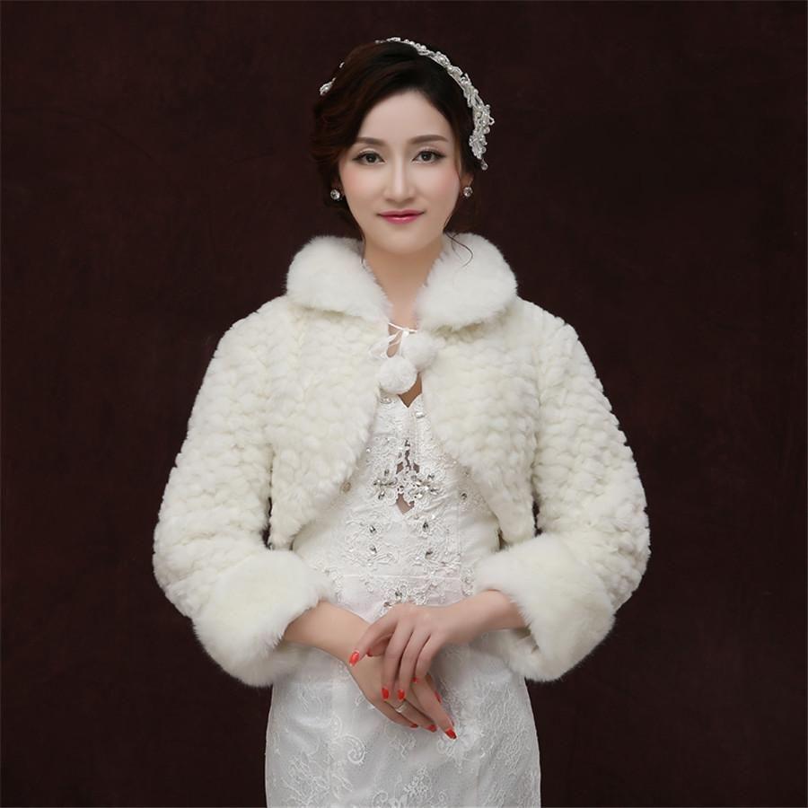 2018 Long Sleeve White Shawl Bride Wedding Dress Wool Shawls