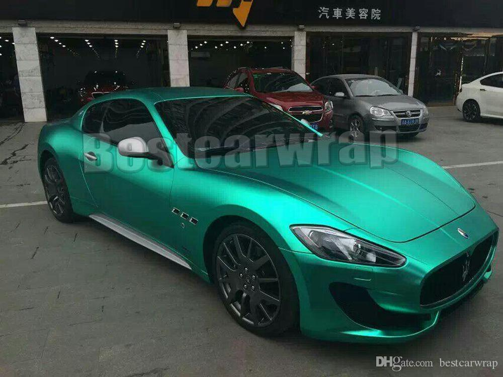2019 Tiffany Blue Matte Chrome Vinyl Car Wrapping Film