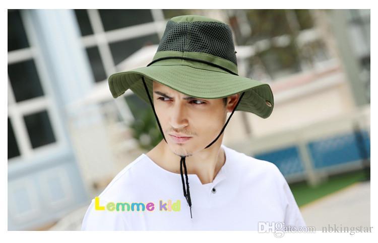 Erstaunliche Männer Frauen Bucket Hat Breiter Krempe Unisex Sommer Hut für Jagd Angeln Wandern Camping Klettern im Freien 5 Farben